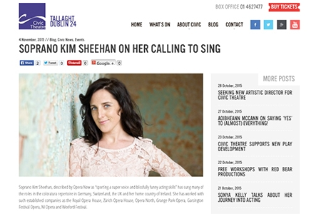 SOPRANO KIM SHEEHAN ON HER CALLING TO SING